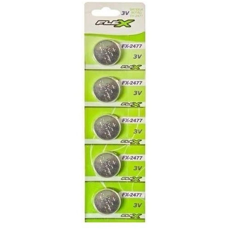 Blister 5 Unid. Bateria FX-CR2477 Lithium 3v Tipo Botão Flex - CD-2477