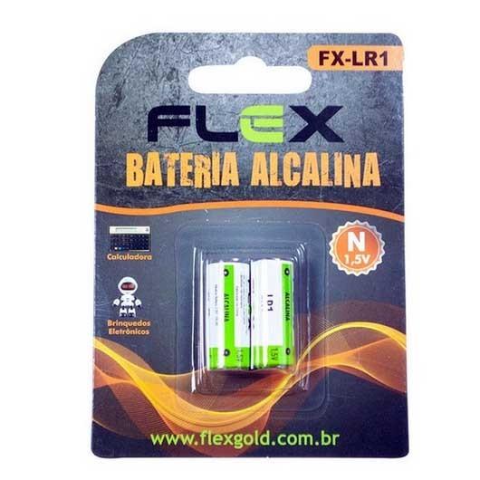 Blister Bateria Alcalina 1,5V 02Un. Flex Gold - FX-LR1