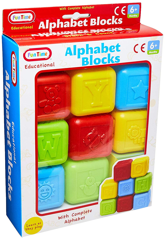 Blocos Aprendendo a Brincar Fun Time Colorido Multikids BR591