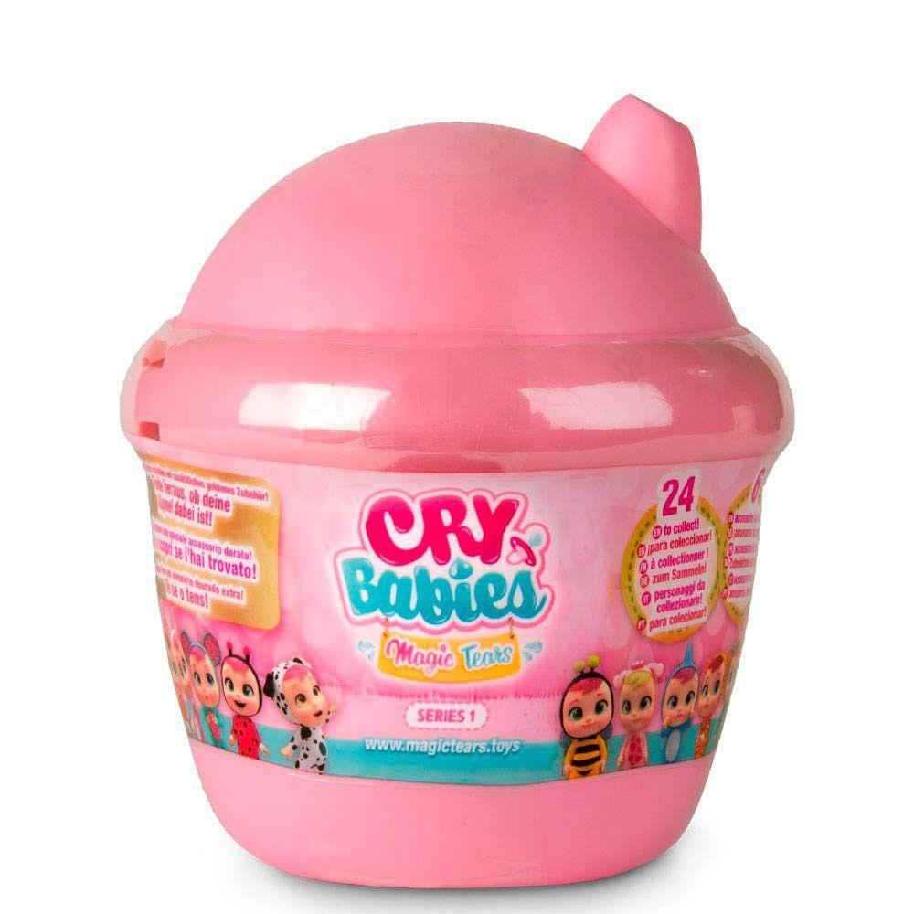 Boneca Cry Babies Magic Tears Bottle House Série 1 Rosa Multikids BR980