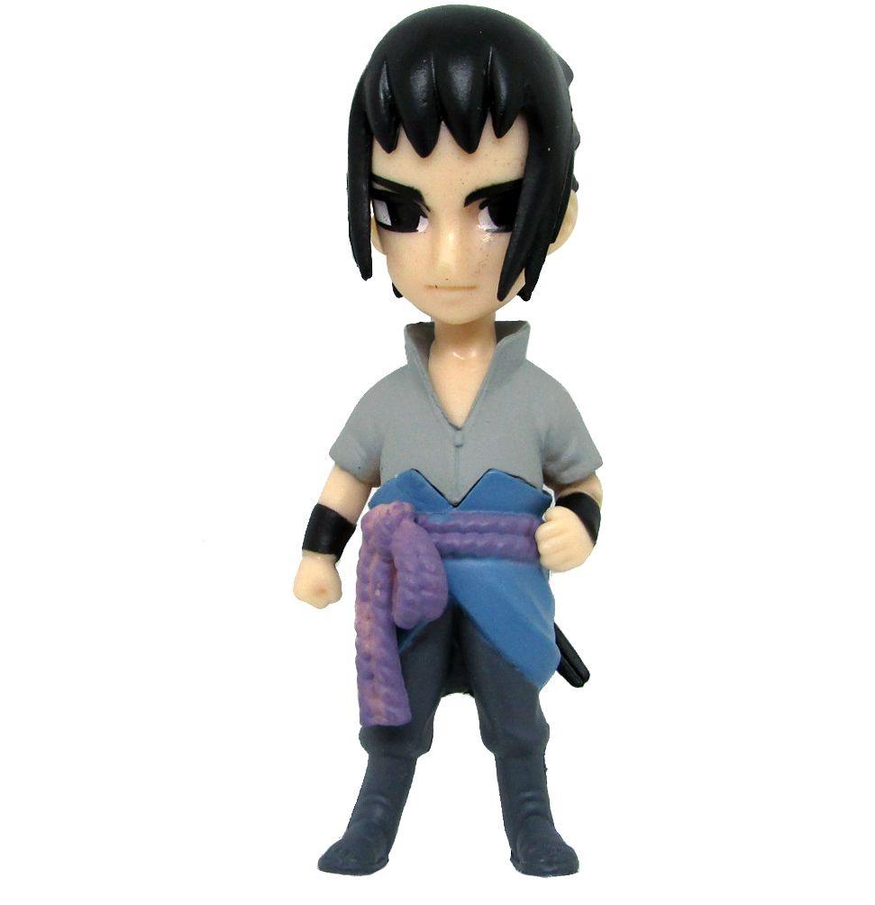 Boneco Colecionável Naruto Miniatura 8Cm em PVC - Sasuke