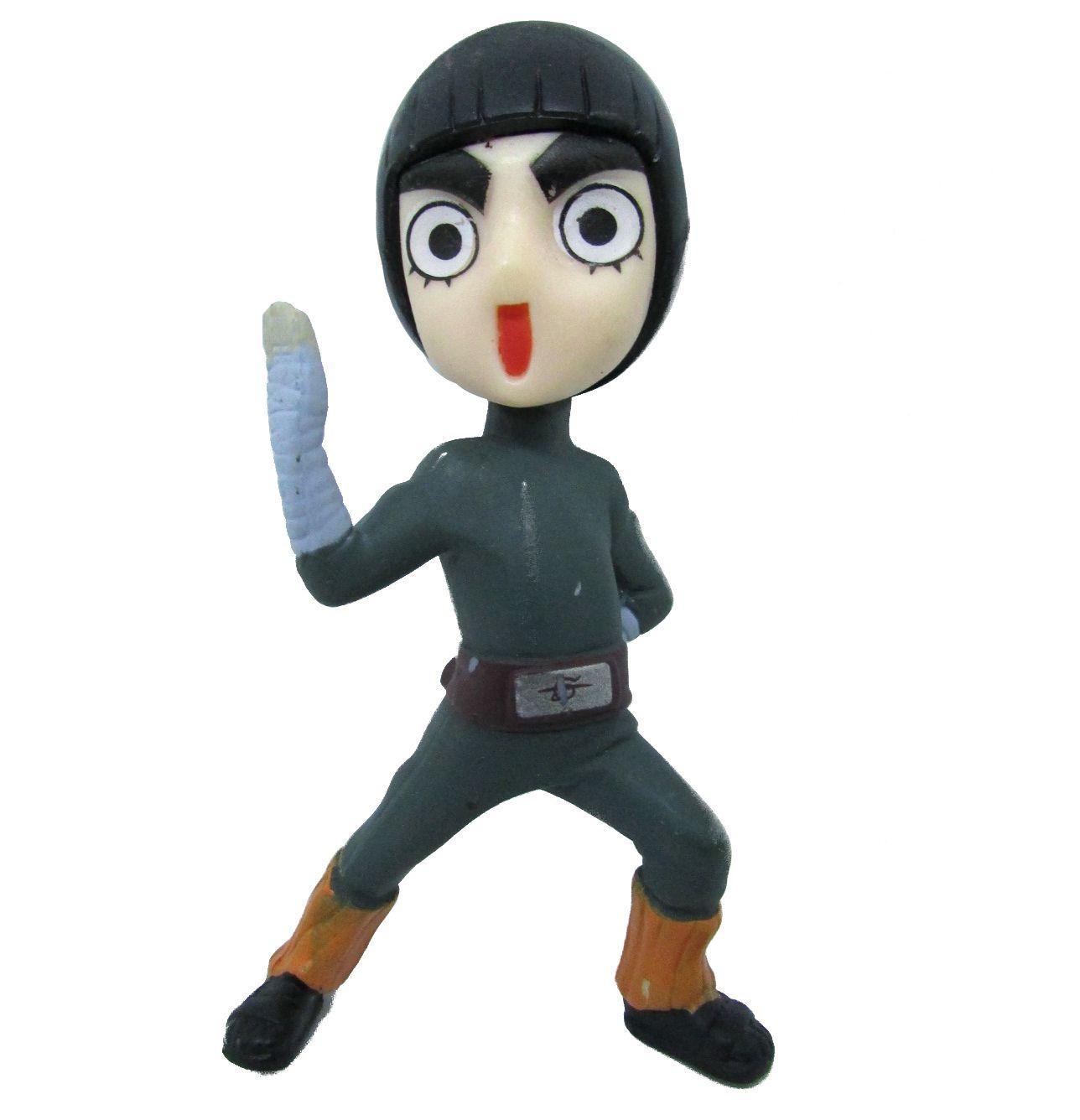 Boneco Colecionável Naruto Miniatura 9Cm em PVC - Lee