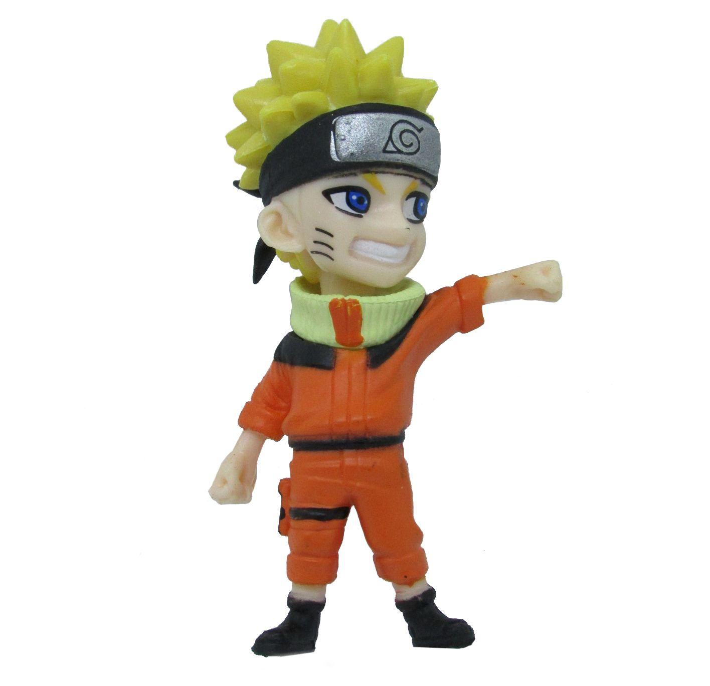 Boneco Colecionável Naruto Miniatura 9Cm em PVC - Naruto 02