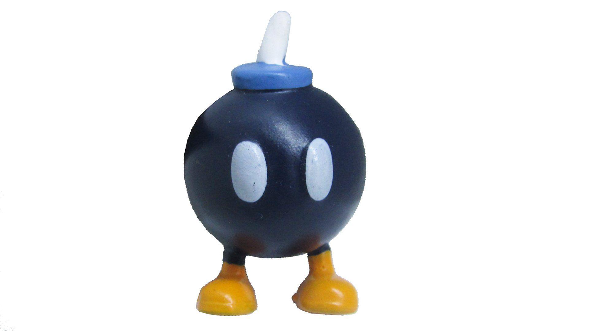Boneco Colecionável Super Mario - Bob-Bomba - 4CM