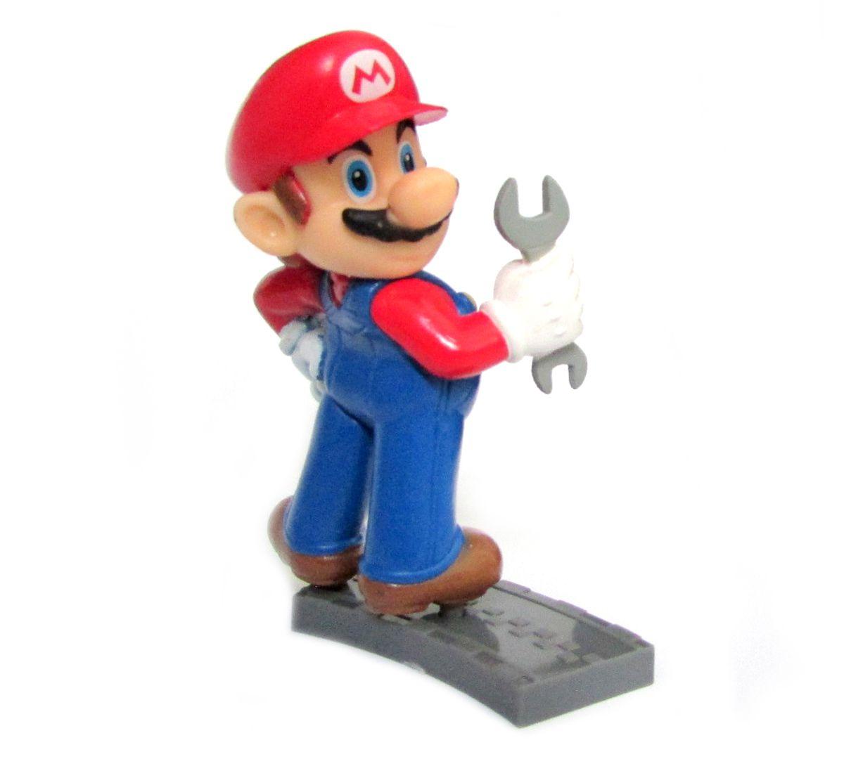 Action figure Coleção Mario Kart 7 8Cm - Mario