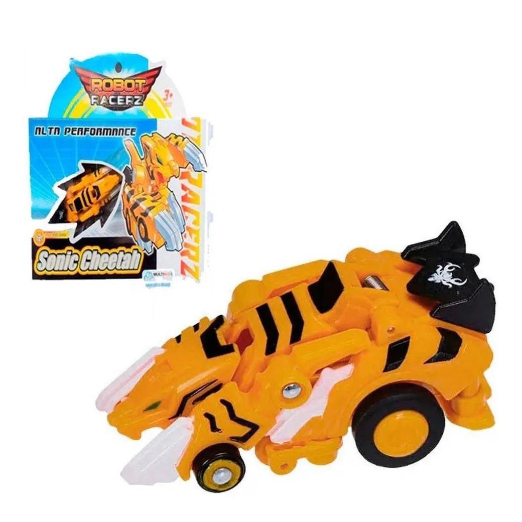 Brinquedo Robot Racerz Sonic Cheetah De Fricção +3 anos Multikids Amarelo - Br860