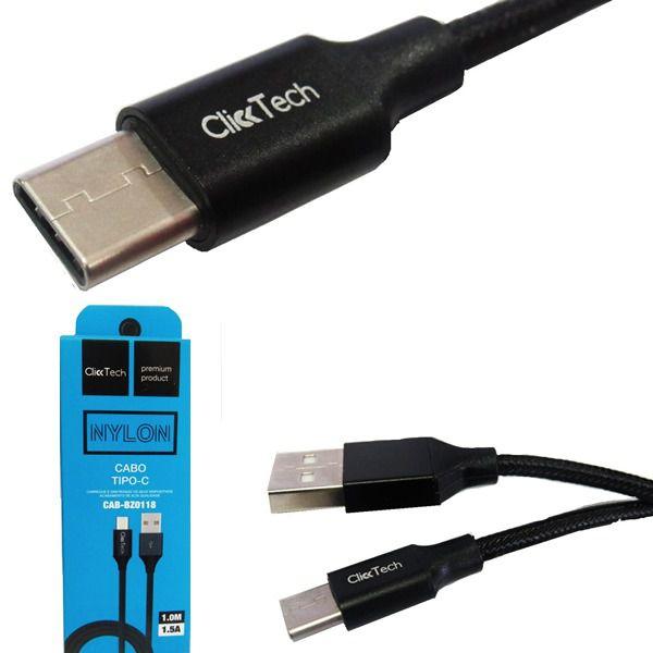 Cabo Dados Carregador Usb 2.0 Tipo C Clicktech