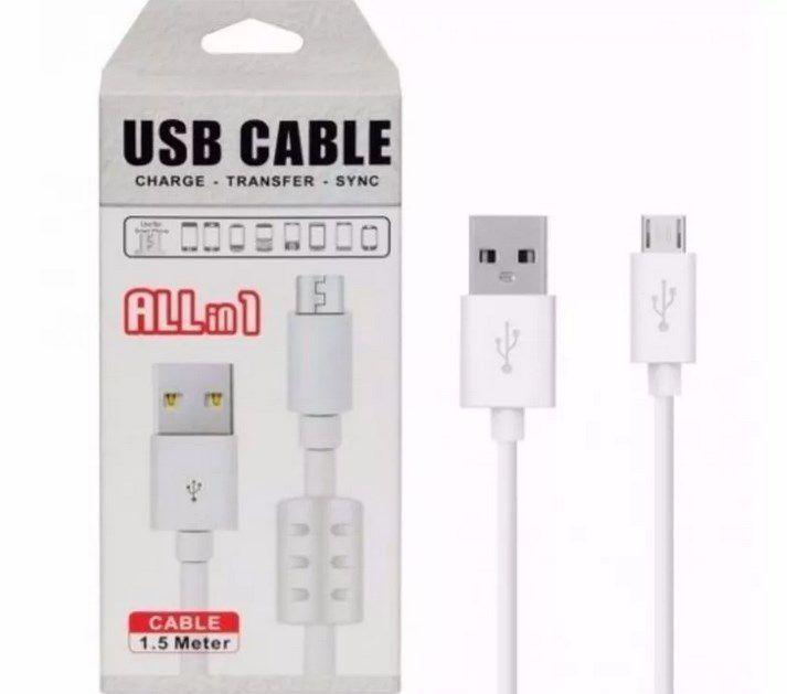 Cabo de Dados e Carga Micro-USB V8 C/ Filtro 1,5 M
