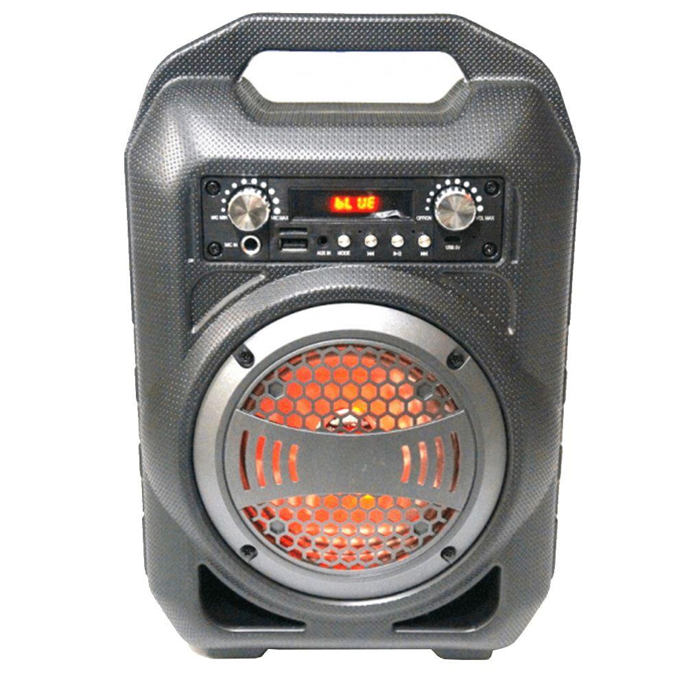 Caixa de Som 6 em 1 Bluetooth 30w Rms Rádio Fm Super Bass Speaker