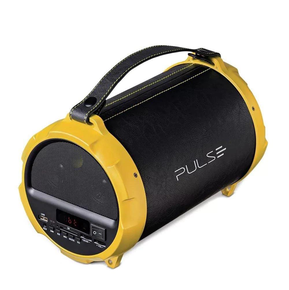 Caixa de Som Bazooka System Bluetooth Acabamento em Couro 40W FM CARTÃO SD USB P2 Pulse - SP265