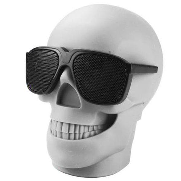 Caixa De Som Bluetooth Caveira Skull Crânio Usb Rádio D-Q6 Branco