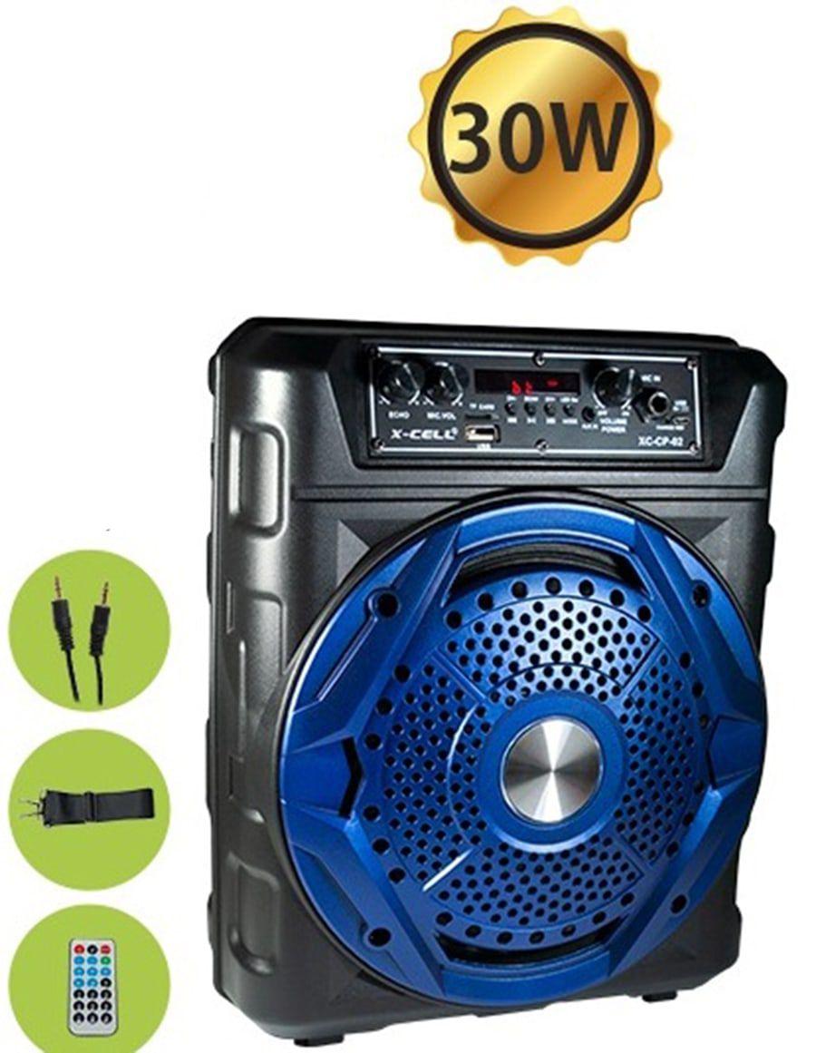 Caixa de Som Portátil 30w Bluetooth C/ Controle Remoto XC-CP-02 X-Cell