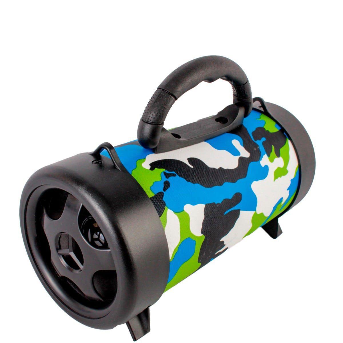 Caixa de Som Portátil Bluetooth Grasep Verde/Azul D-P8 5V 10W
