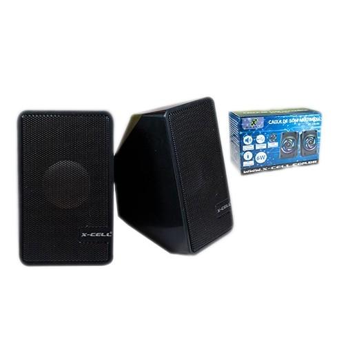 Caixa de Som X-Cell Para PC/Notebook P2 USB C/ Controle Vol. Preto - XC-CM-07