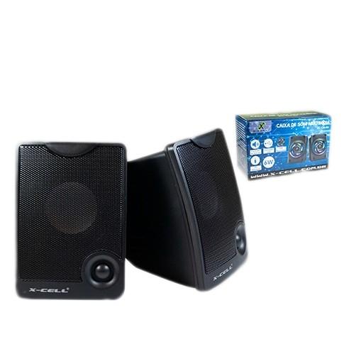 Caixa de Som X-Cell Para PC/Notebook P2 USB C/ Controle Vol. Preto - XC-CM-10