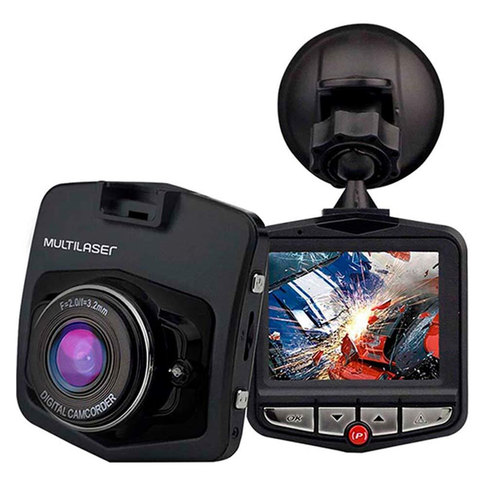 Câmera Veicular DVR 1080p Hd Sensor Movimento + Looping + Visão Noturna Multilaser - AU021