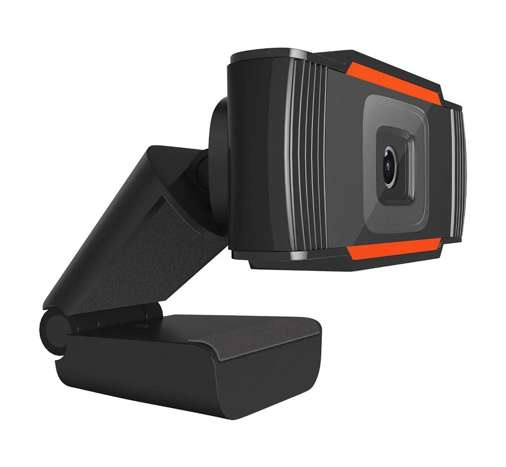 Câmera Webcam C/ Microfone Estéreo 1080p Full HD USB Preto - STK009