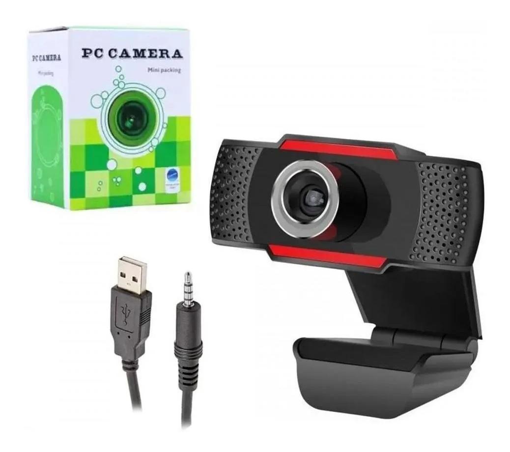 Câmera Webcam C/ Microfone Estéreo 1080x720p USB Preto - PC Câmera