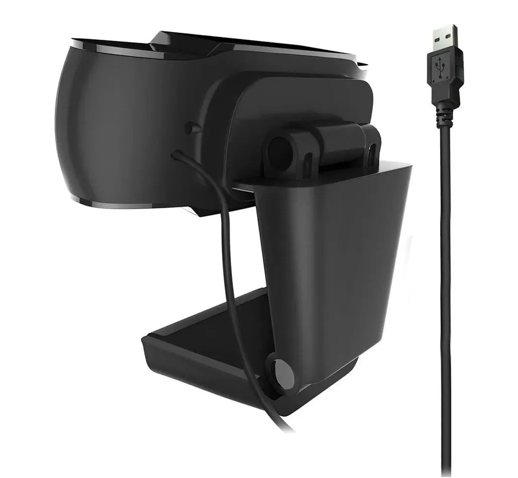 Câmera Webcam C/ Microfone HD 720p USB Preto / Laranja