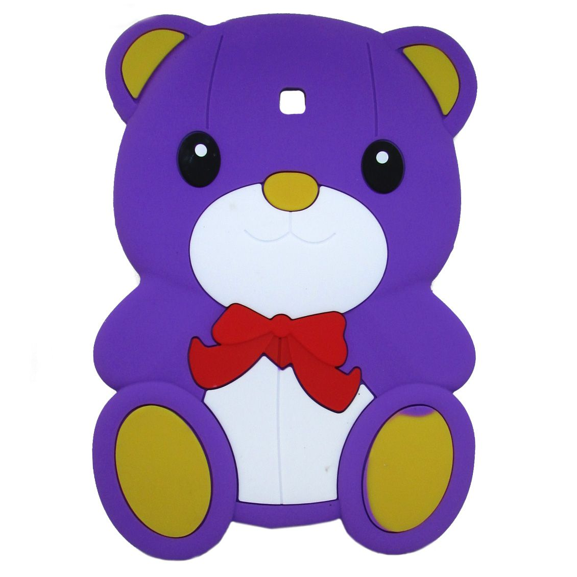 Capa Case emborrachada Infantil ursinho Roxo Samsung 7 Polegadas P3200 / P3210