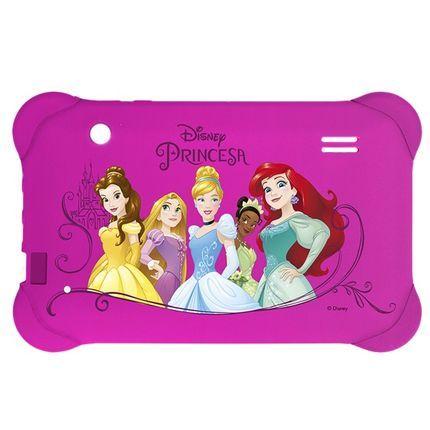 Capa Case Rosa Princesas Multilaser Emborrachada P/ Tablet 7 Polegadas PR939