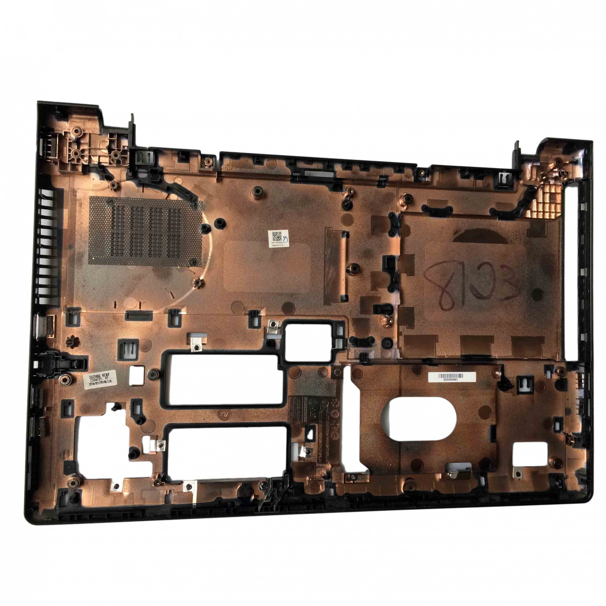 Carcaça Base Inferior + Tampa HD Notebook Lenovo Ideapad 300-15ISK PN:ap0ym000 - Retirado