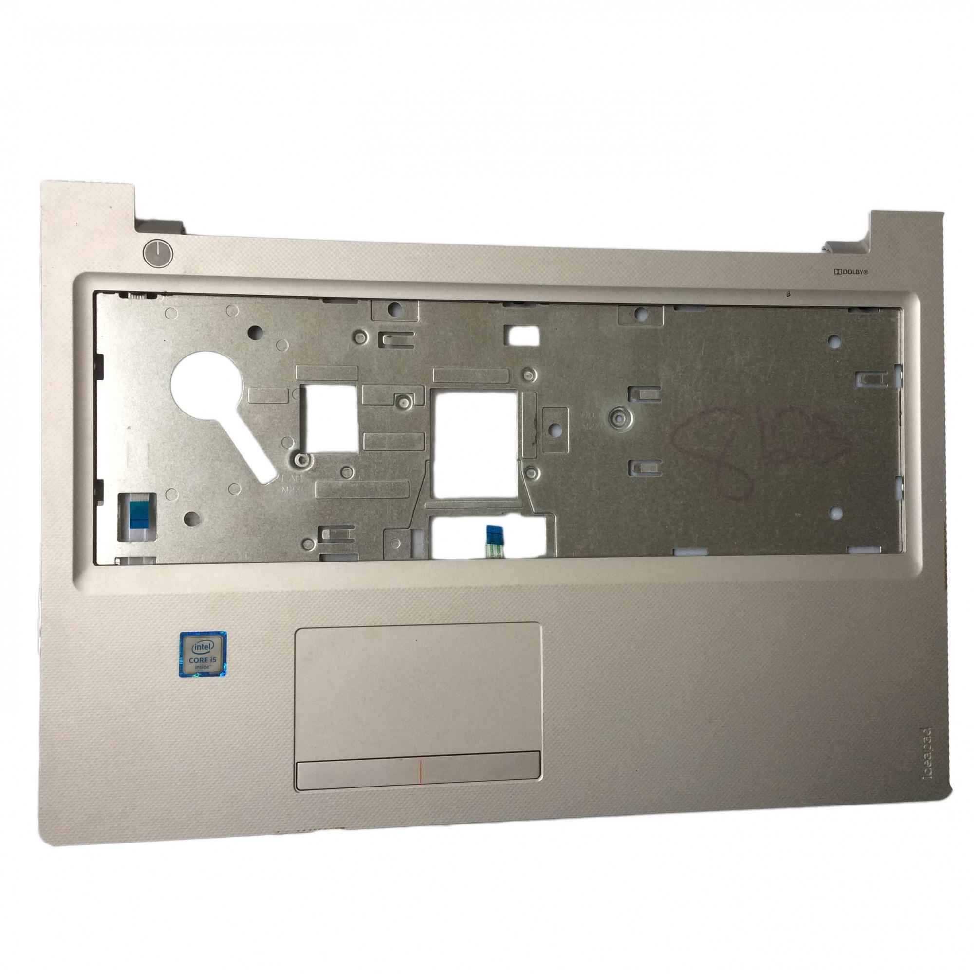 Carcaça Base Superior + TouchPad + Botão Power + Flats Notebook Lenovo Ideapad 300-15ISK PN:AP0YM000100 PID08030 - Retirado