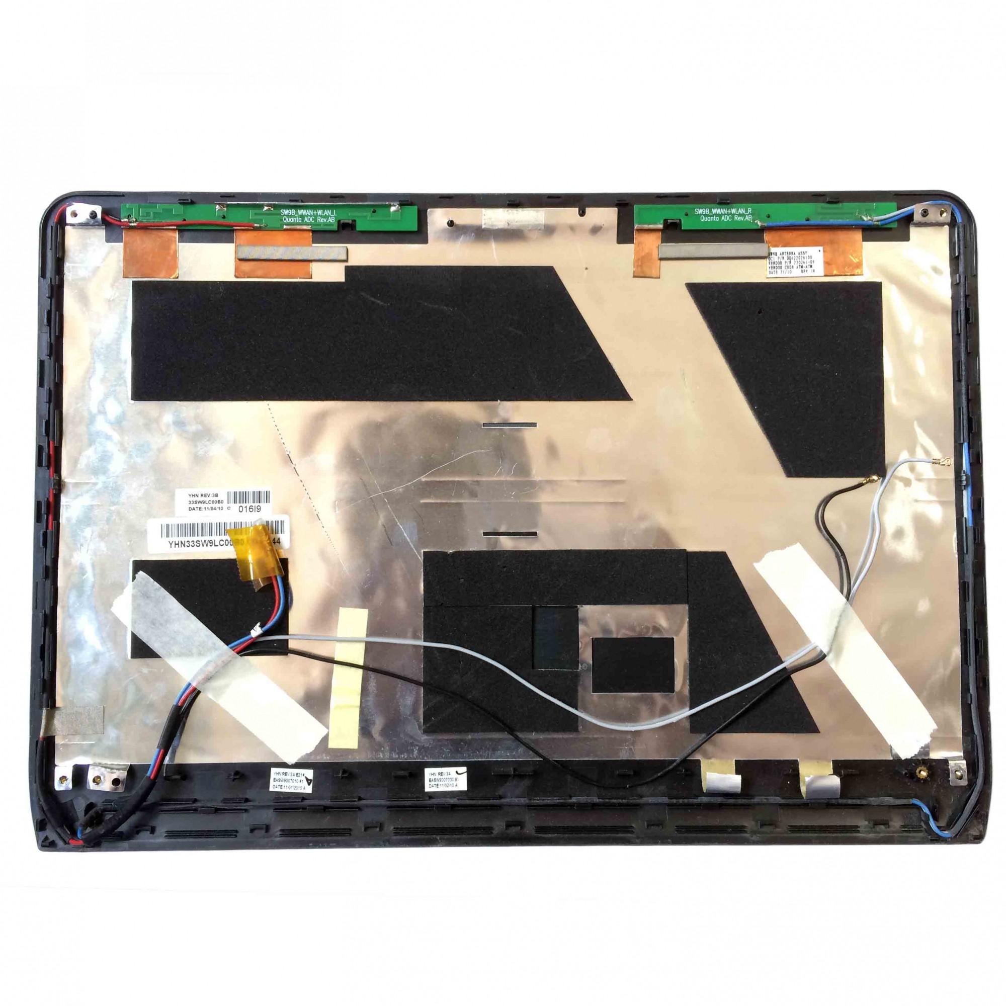 Carcaça Tampa LCD + Antenas Wi-Fi + Flats Notebook Itautec Inforway W7430 W7435 PN:EASW9007030 - Retirado