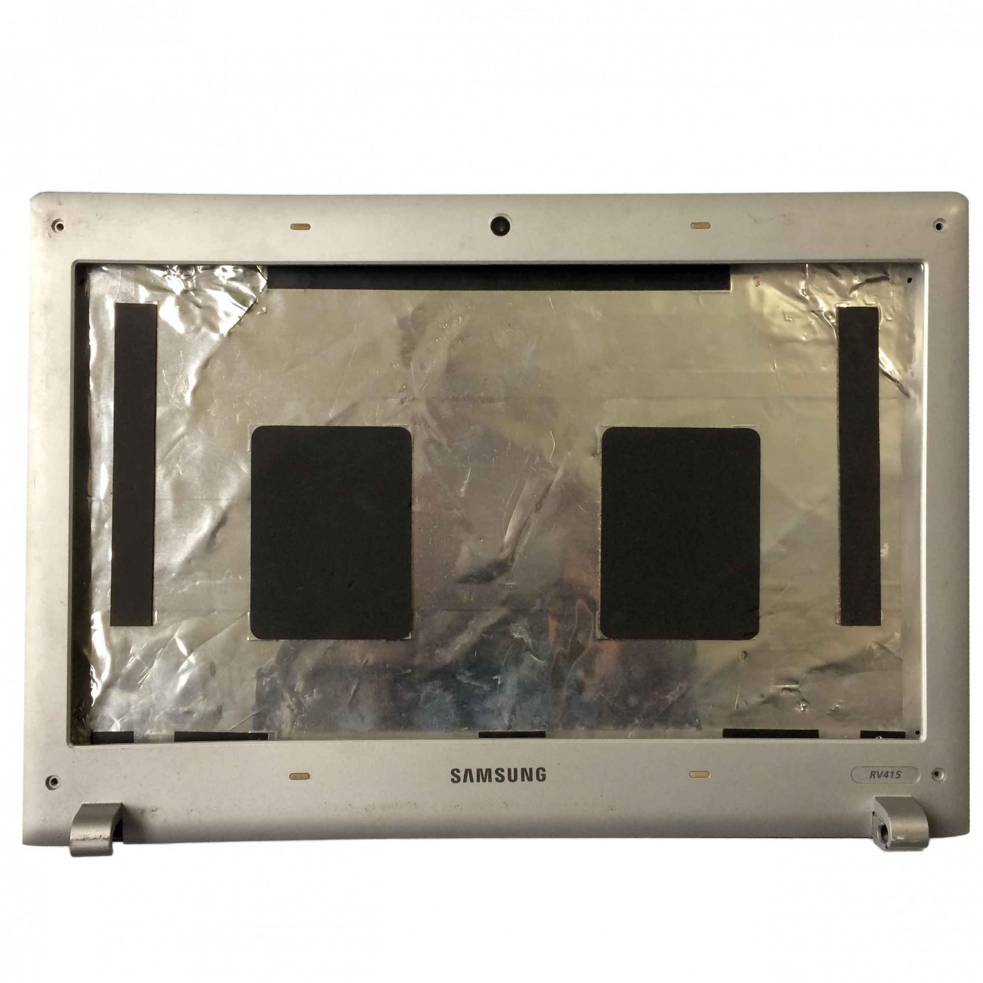 Carcaça Tampa LCD + Moldura Notebook Samsung Rv411 RV415 PN:ba75-03700a - Retirado