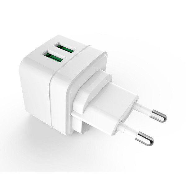 Carregador AC/USB C3tech Universal de 5V 2,4A 12W 2 portas UC-210WH