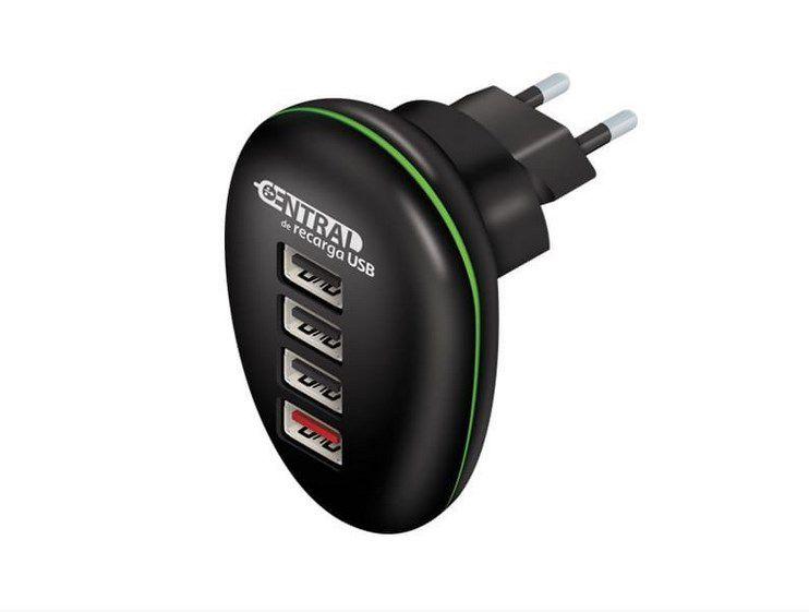 Carregador de Celular 4 portas USB 5V/2.4A Central de Recarga USB COMTAC 9278