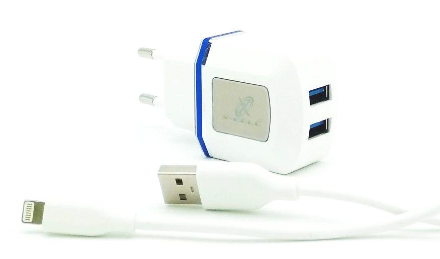 Carregador de parede universal com 2 entradas USB Azul XC-IPH5/6-UR.8