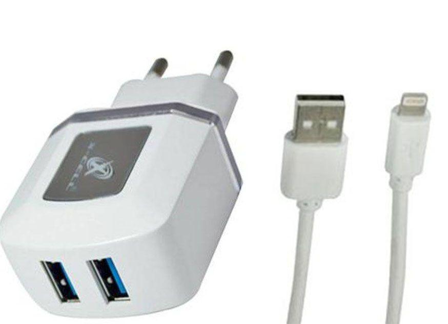 Carregador de parede universal com 2 entradas USB Cinza XC-IPH5/6-UR.8