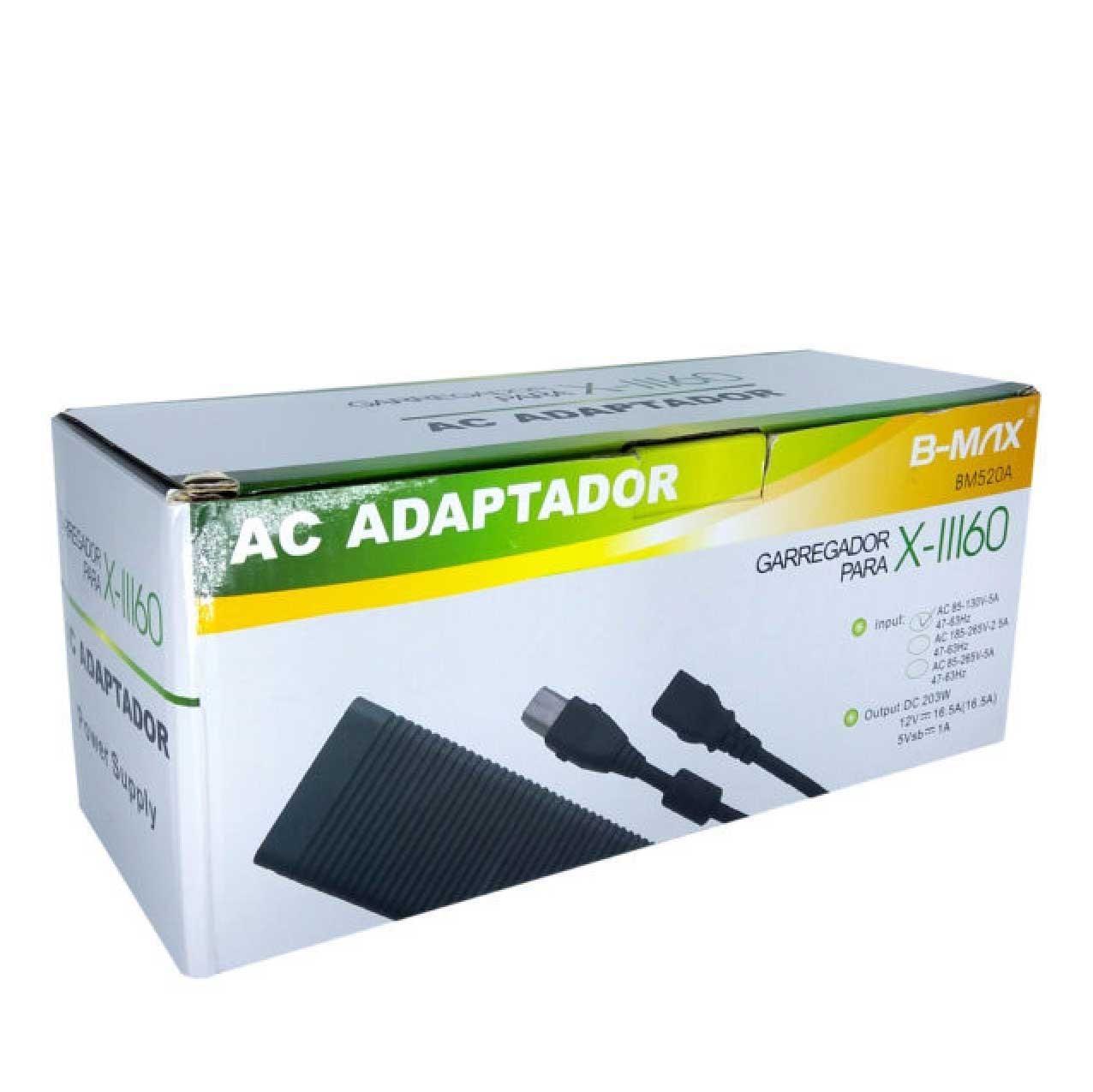 Fonte P/ Vídeo Game X-box Fat X-11160 AC Adaptador 220V B-MAX - BM520A