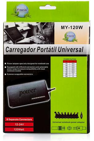 Fonte Carregador Universal chaveado p/ Notebook 12V a 24V 120W 4790