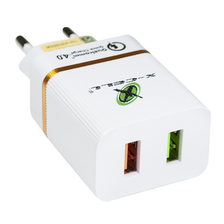 Carregador X-Cell Turbo C/ 2 Entradas Usb 4.0 a 18w Branco - XC-UR-15