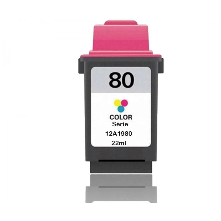 Cartucho Colorido Jato De Tinta Compatível 80 12a 1980