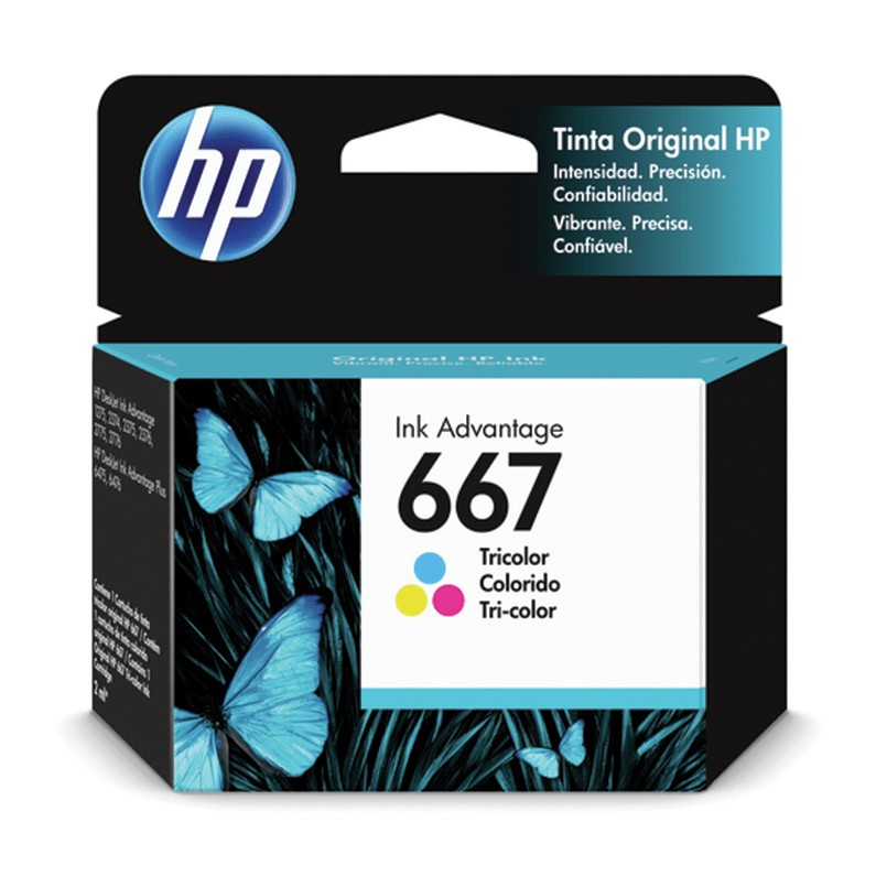 Cartucho de Tinta HP 667 Colorido Advantage Original - 3YM78AL