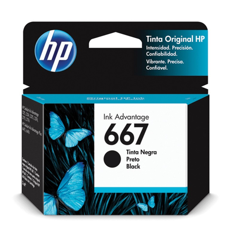 Cartucho de Tinta HP 667 Preto Advantage Original - 3YM79AL