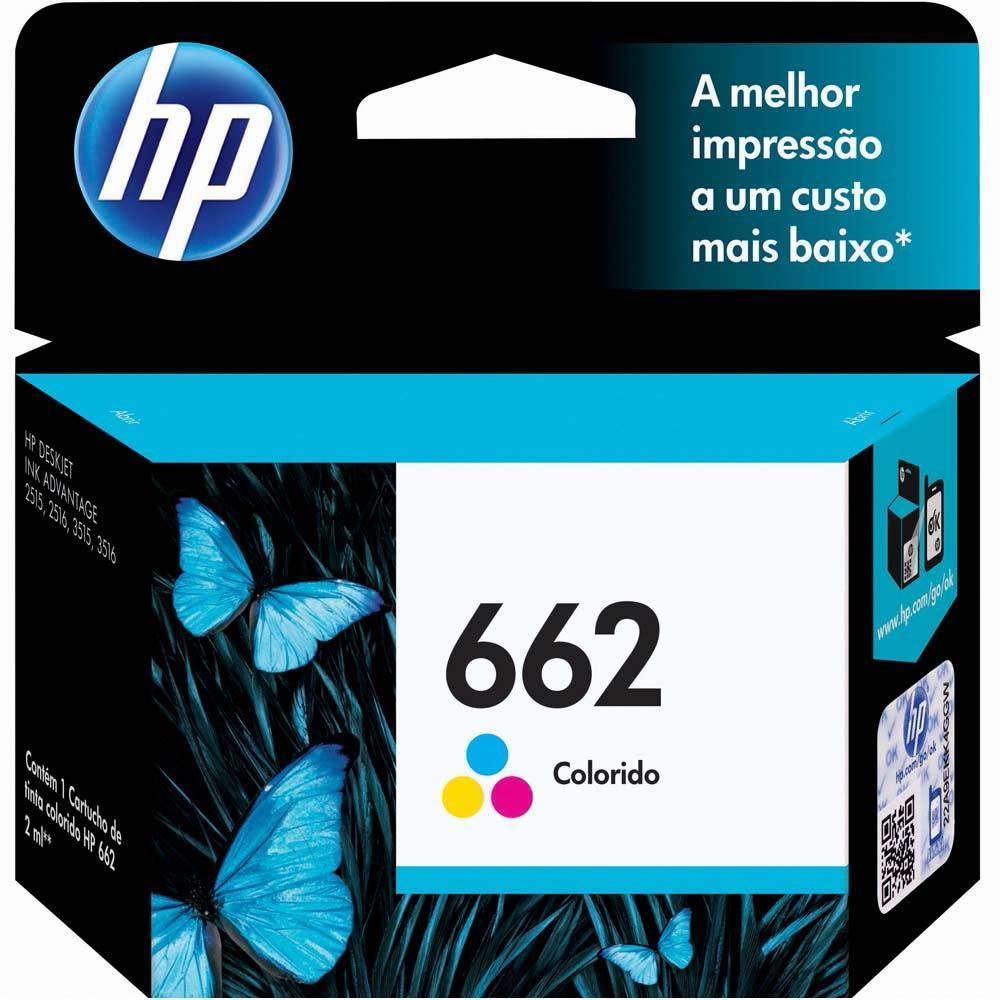 Cartucho HP 662 Colorido CZ104AB