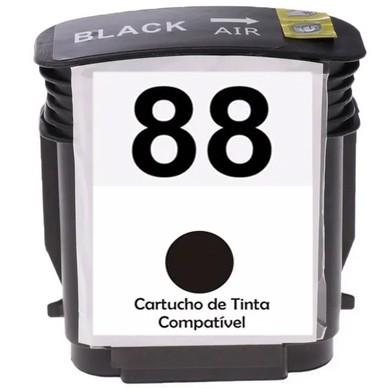 Cartucho Preto Jato De Tinta Compatível 88 88XL C9396A - 11730