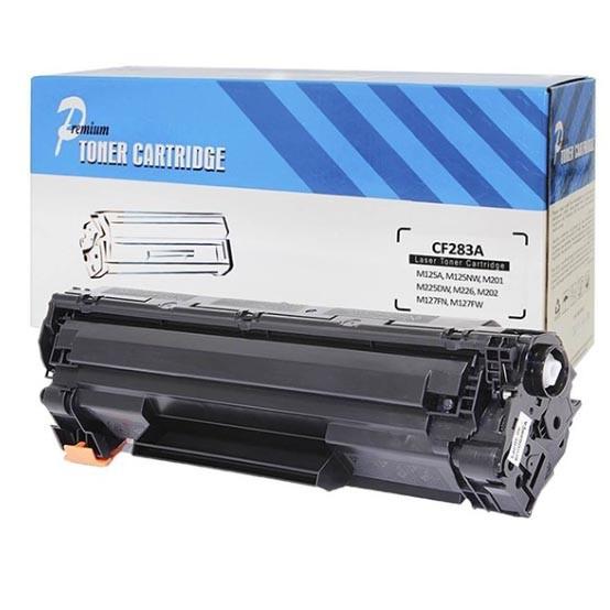Cartucho Tonner Preto P/ Impressoras Laser Compatível 283A CF283A CB283A 83A - 283A MJ