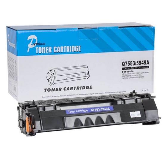 Cartucho Tonner Preto P/ Impressoras Laser Compatível Q5949A Q7553A - Q5949A