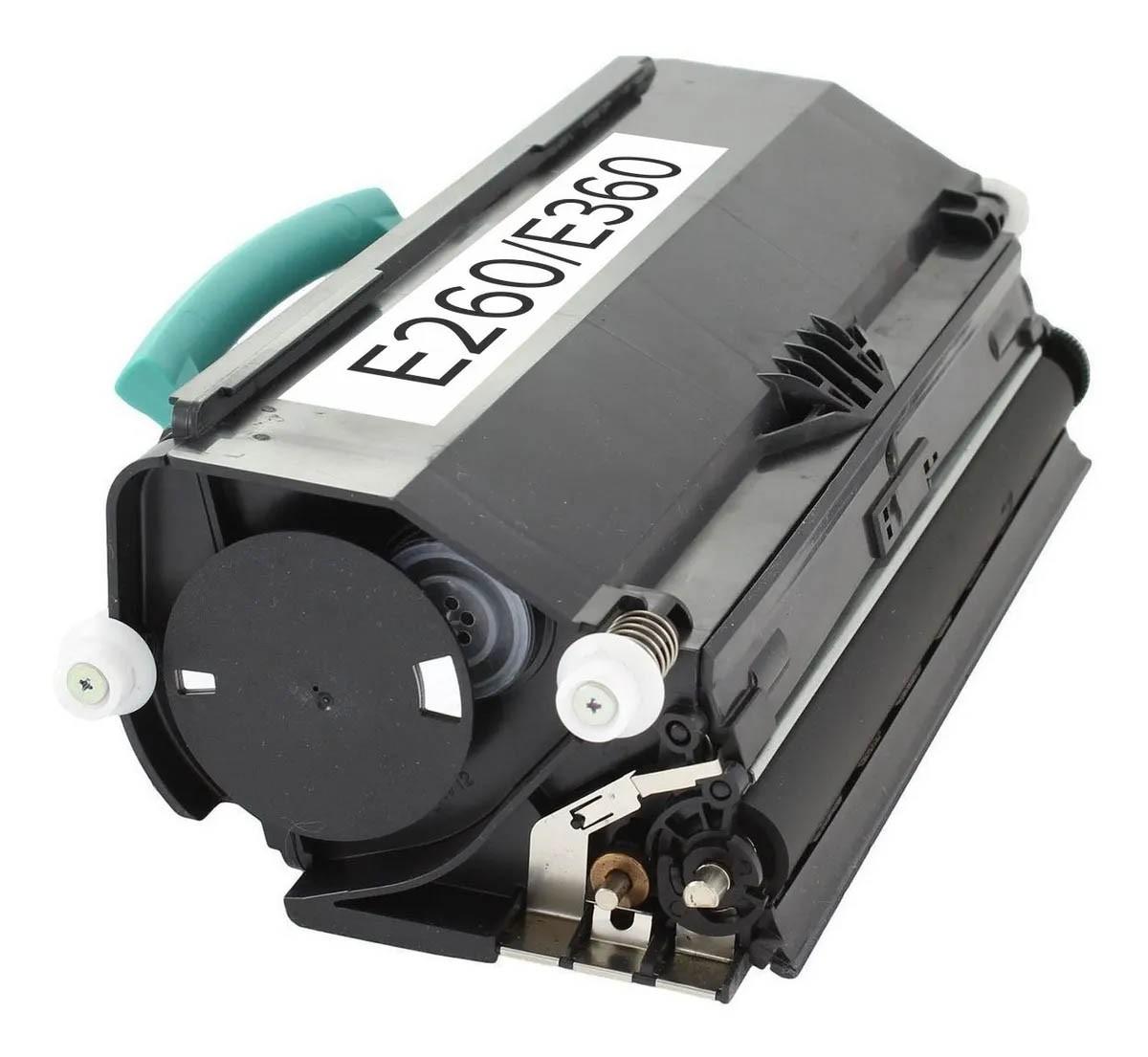 Cartucho Tonner Preto P/ Impressoras Laser Compatível E260 E360 E460 - 3.5K