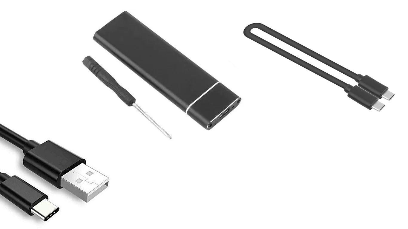 Case Adaptador Ssd M.2 Usb Tipo C 3.1 e USB 2.0