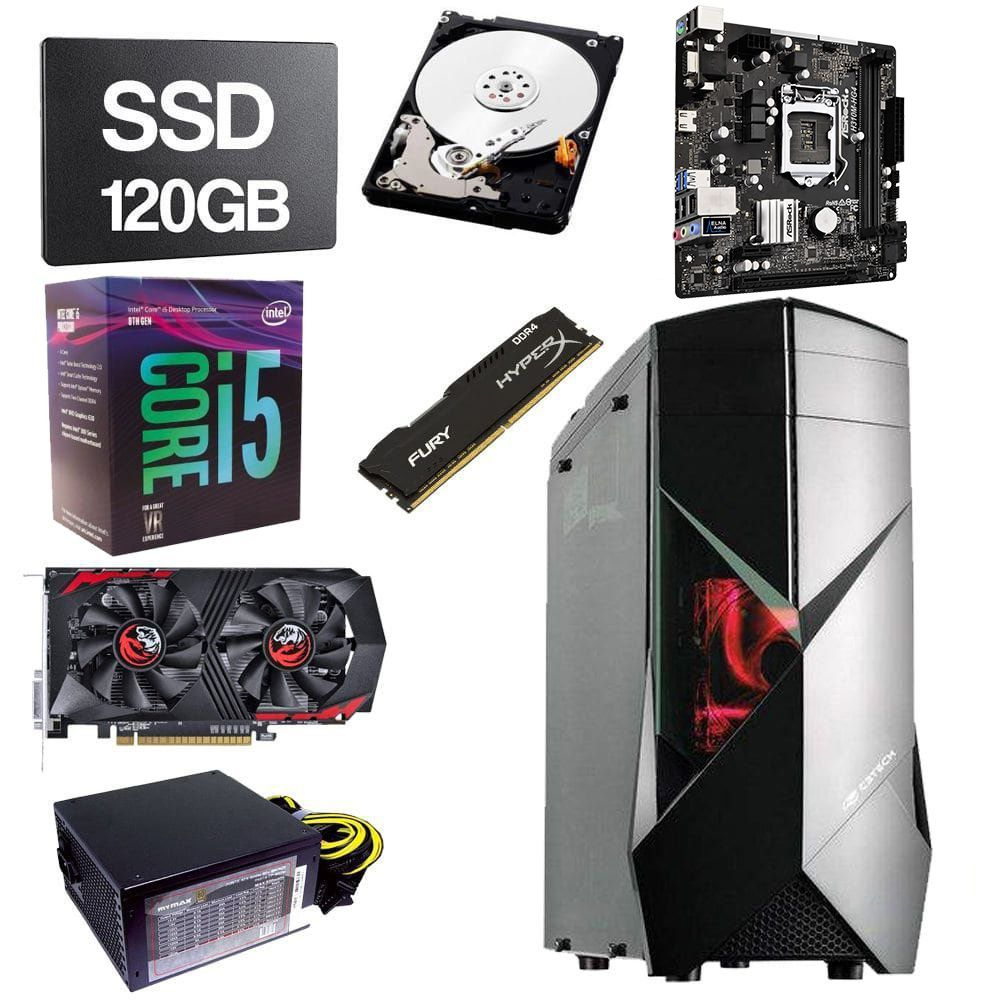 Computador Gamer CPU Intel Core i5 8400 2.8GHZ 8GB DDR4 SSD 120GB HD 1TB GTX1050TI 4GB