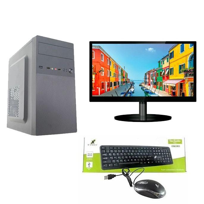 Computador Home CPU AMD Ryzen 3 2200G 3.5GHz 8GB DDR4 SSD 256GB + Monitor 23