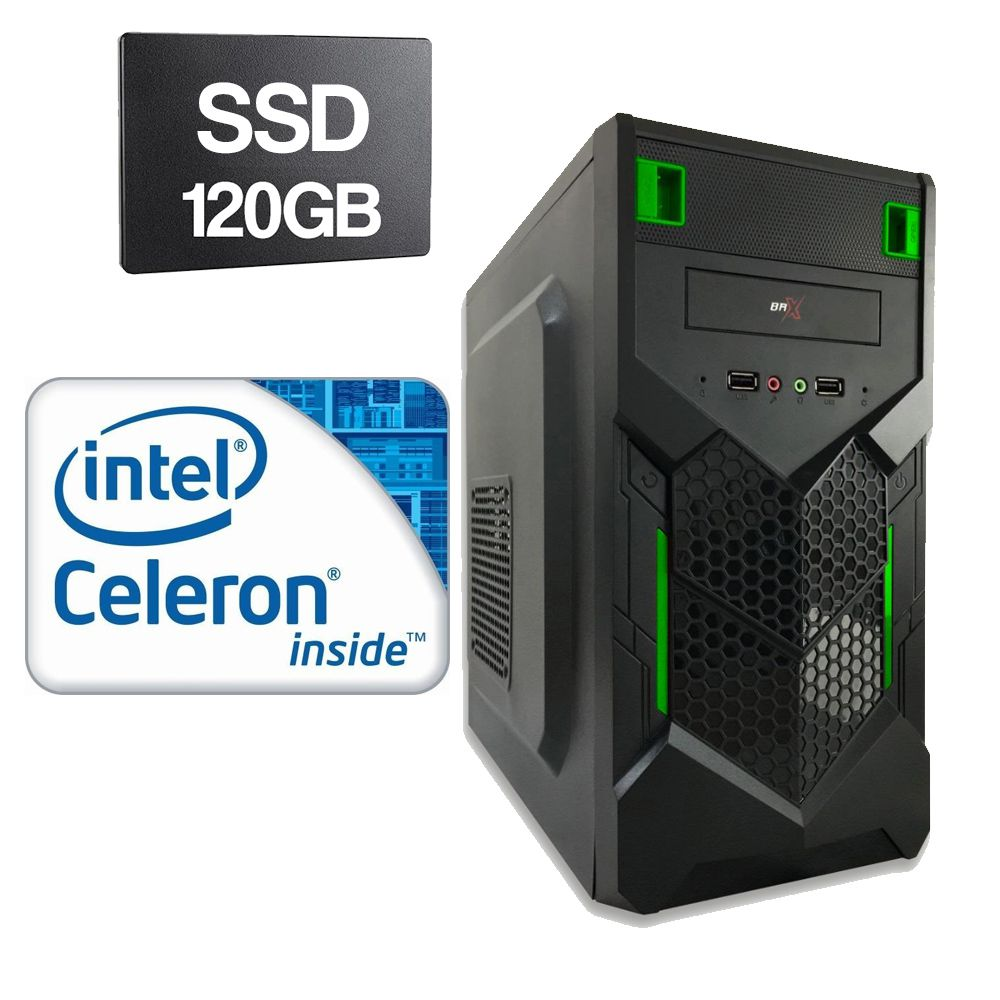 Computador Home CPU Intel Celeron G530 2,4GHZ 4GB DDR3 SSD 120GB