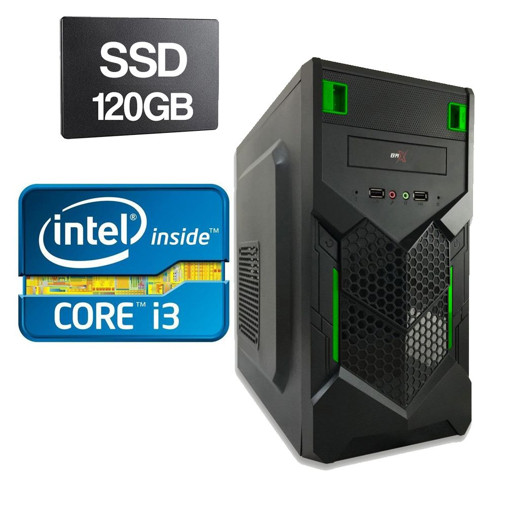 Computador Home CPU Intel Core I3 2120 3.3GHZ 4GB DDR3 SSD 120GB