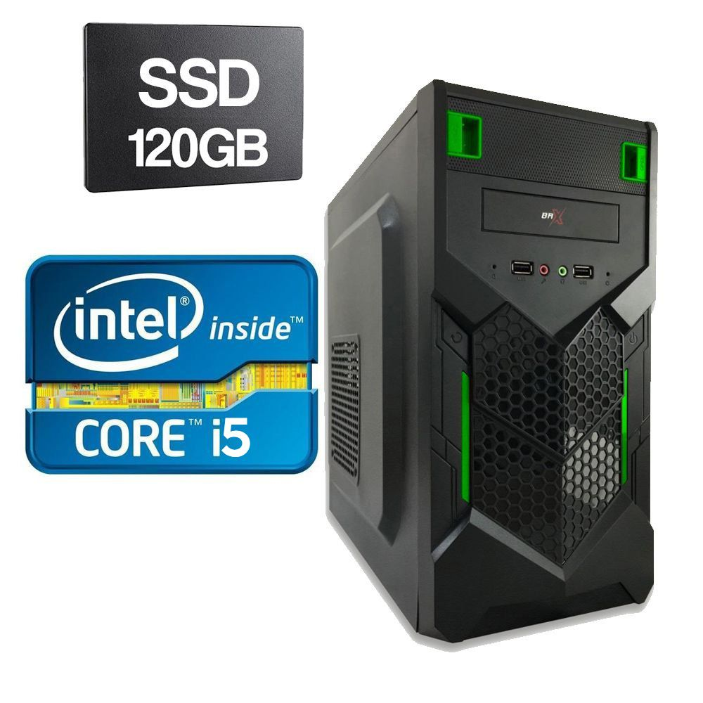 Computador Home CPU Intel Core I5 2400 3.1GHZ 4GB DDR3 SSD 120GB